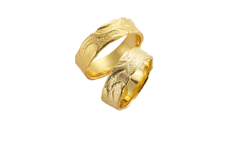 05099+05100-wedding rings, gold 750