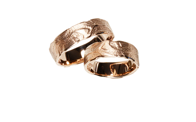 05099+05100-wedding rings, red gold 750