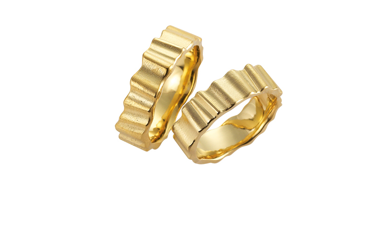 05109+05110-wedding rings, gold 750