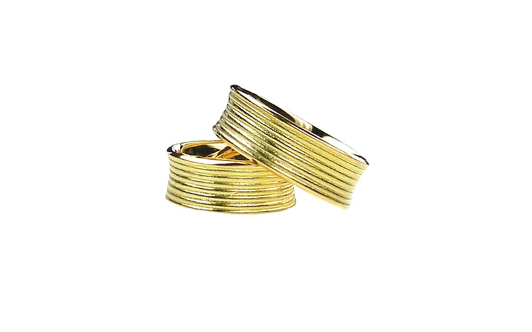 05119+05120-wedding rings, gold 750
