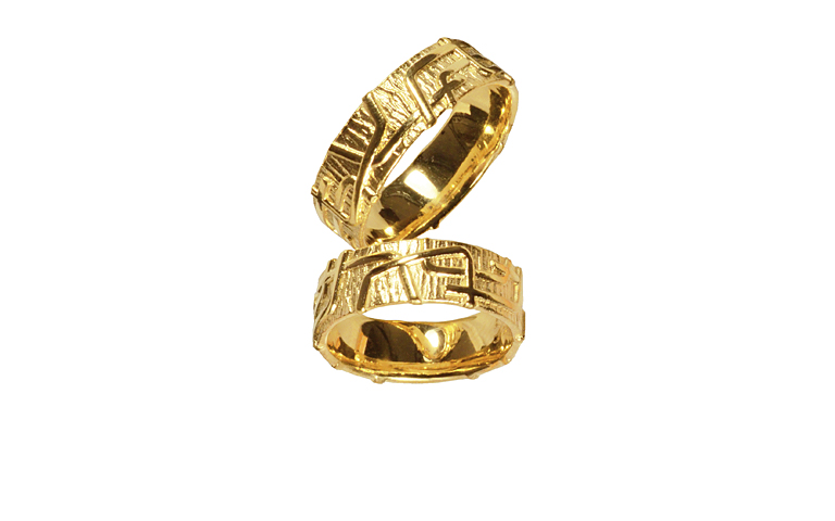 05121+05122--wedding rings, gold 750