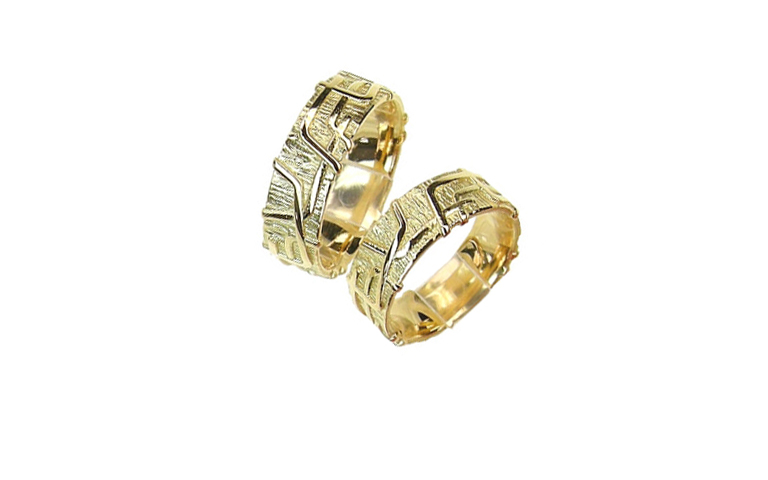 05121+05122-wedding rings, gold 750