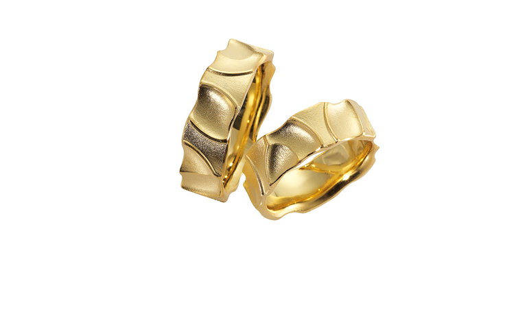 05123+05124-wedding rings, gold 750
