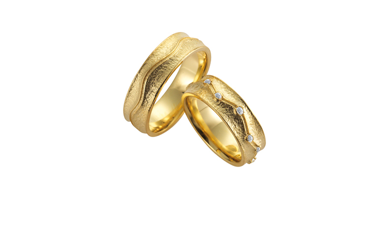 05132+05133-wedding rings, gold 750 and brillants