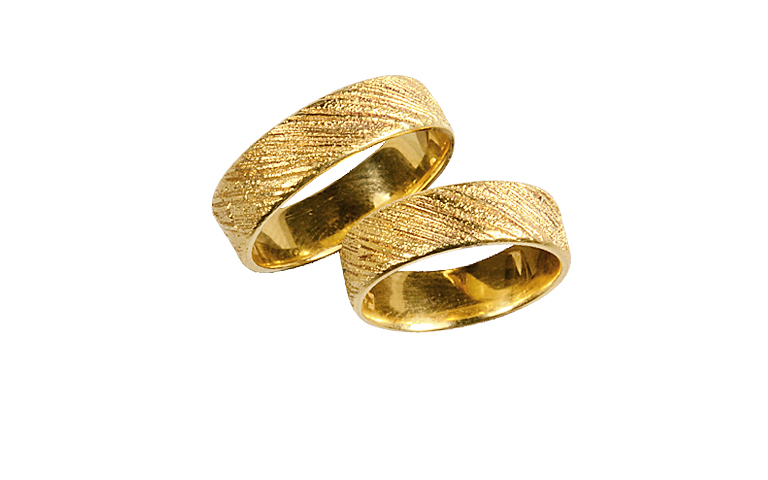 05144+05145-wedding rings, gold 750