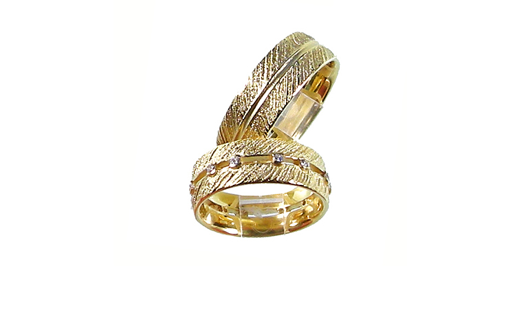 05146+05147-wedding rings, gold 750