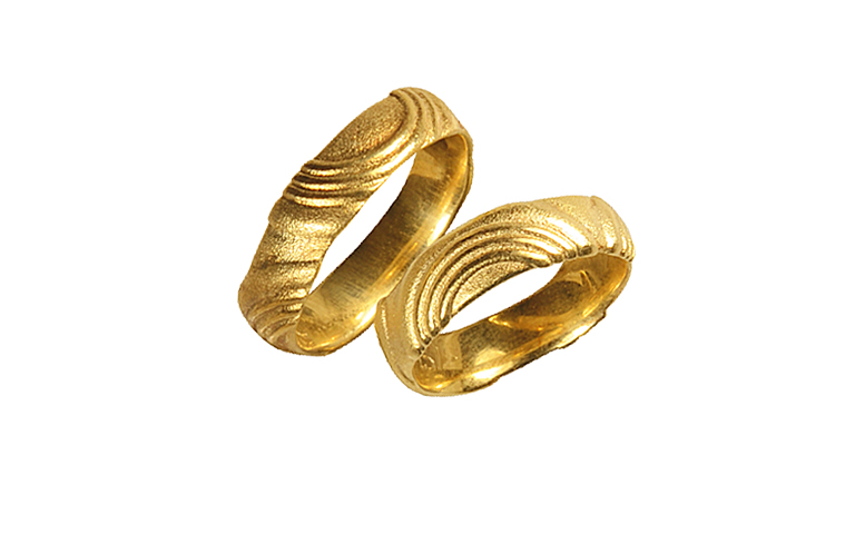 05157+05158-wedding rings, gold 750