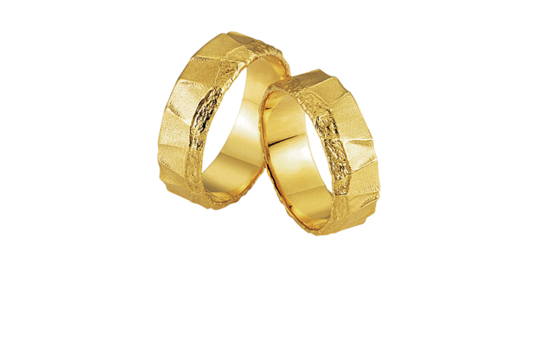 05159+05160-wedding rings, gold 750