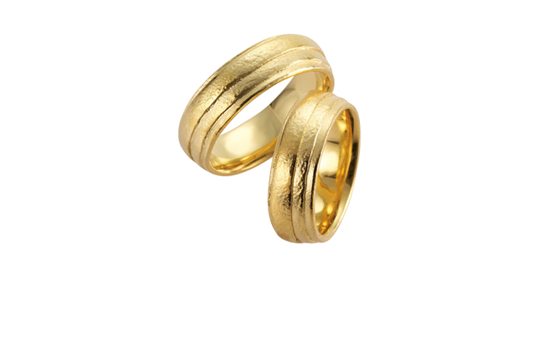 05181+05182-wedding rings, gold 750