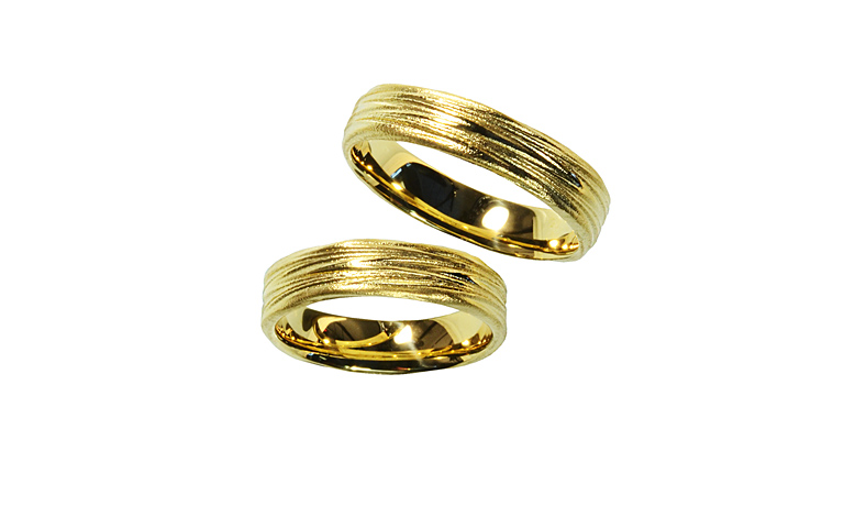 05194+05195-wedding rings, gold 750
