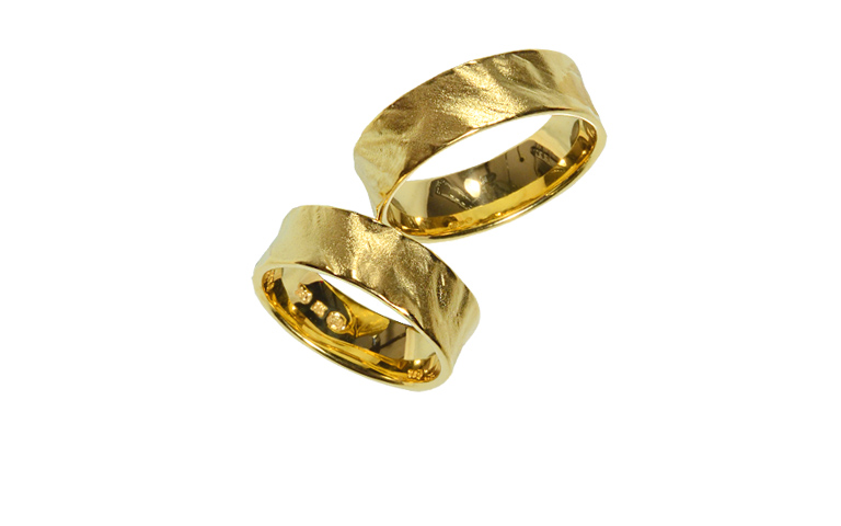 05196+05197-wedding rings, gold 750