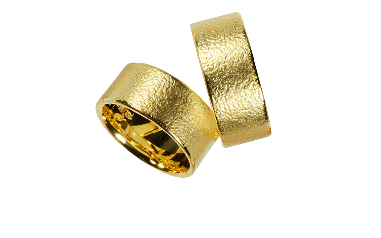 05200+05201-wedding rings, gold 750