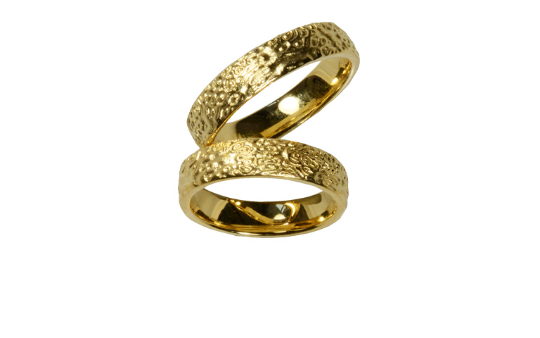 05202+05203-wedding rings, gold 750