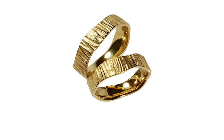 05208+05209-wedding rings, gold 750