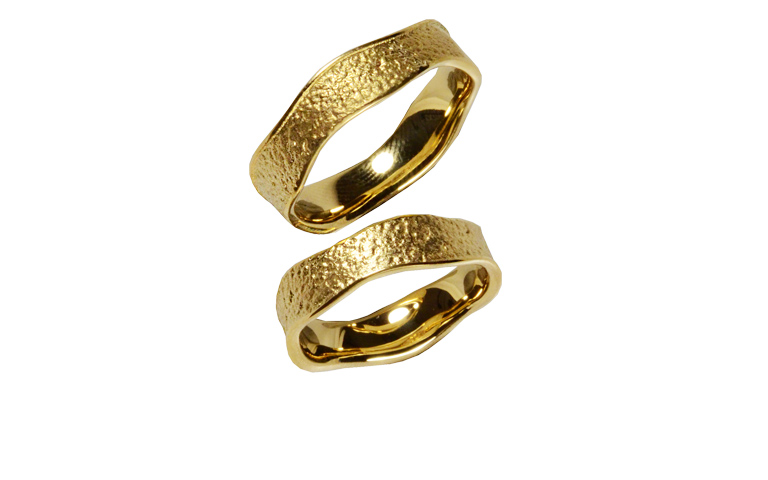 05210+05211-wedding rings, gold 750