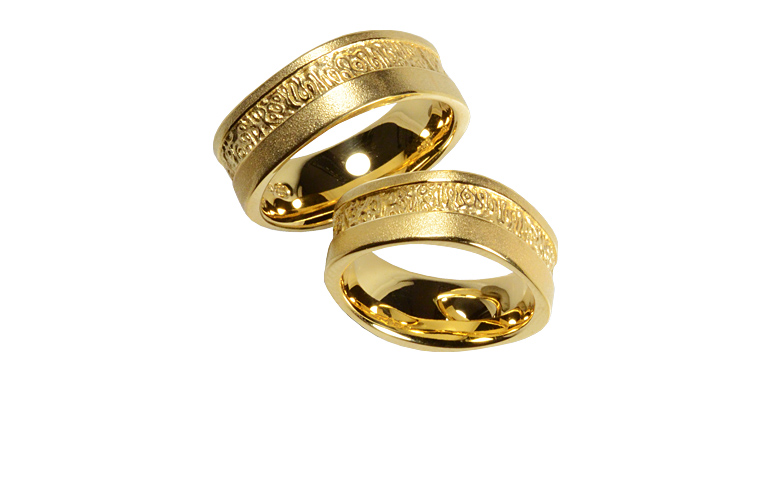 05217+05218-wedding rings, gold 750