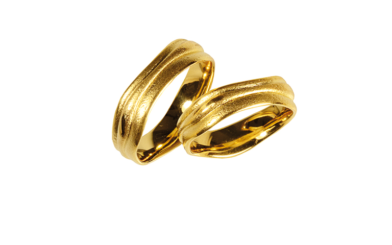 05225+05226-wedding rings, gold 750