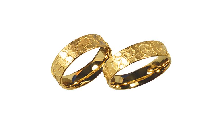 05229+05230-wedding rings, gold 750