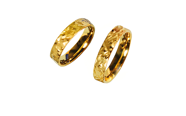 05233+05234-wedding rings, gold 750