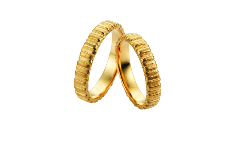 05235+05236-wedding rings, gold 750