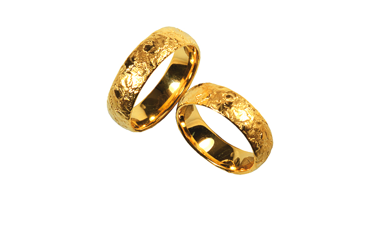 05246+05247-wedding rings, gold 750
