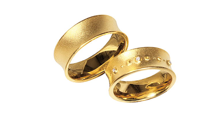 05255+05256-wedding rings, gold 750