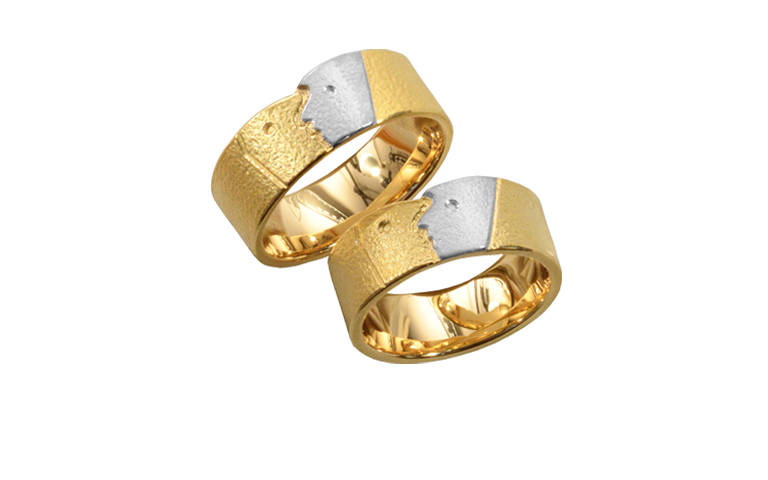 05303+05304-wedding rings, gold 750