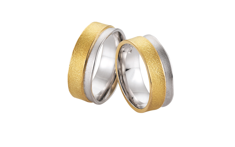 05305+05306-wedding rings, gold 750