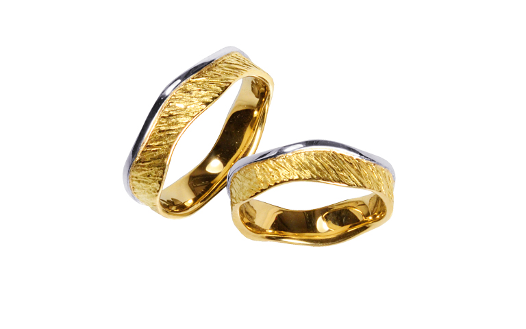 05307+05308-wedding rings, gold 750