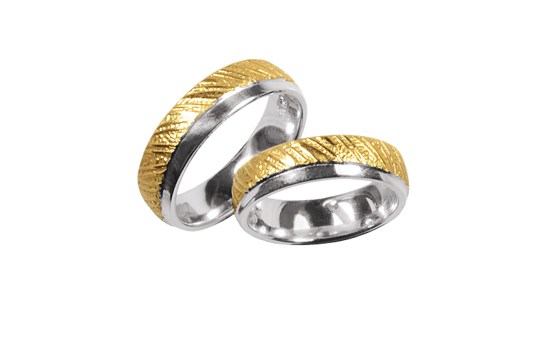 05309+05310-wedding rings, gold 750