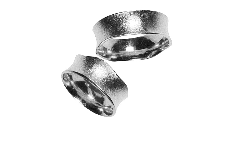 42192+42193-wedding rings, white gold 750