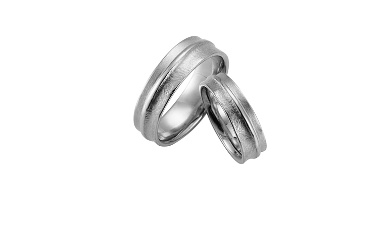 42361+42362-wedding rings, white gold 750