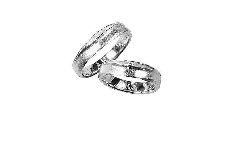 42785+42043-wedding rings, white gold 750 wit a small brillant