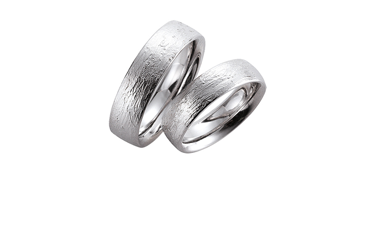 45048+45049-wedding rings, white gold 750