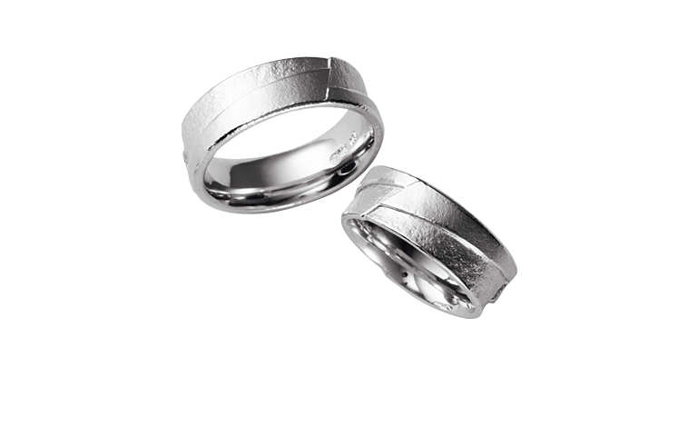 45077+45078-wedding ring, gold 750