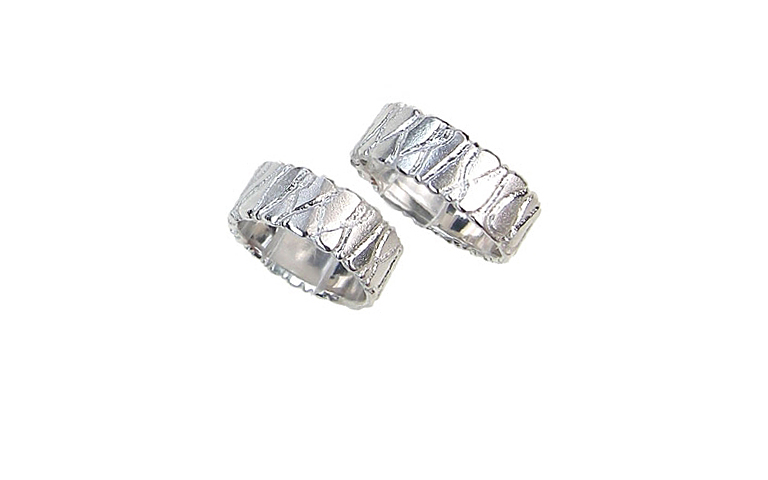 45101+45102-wedding rings, white gold 750