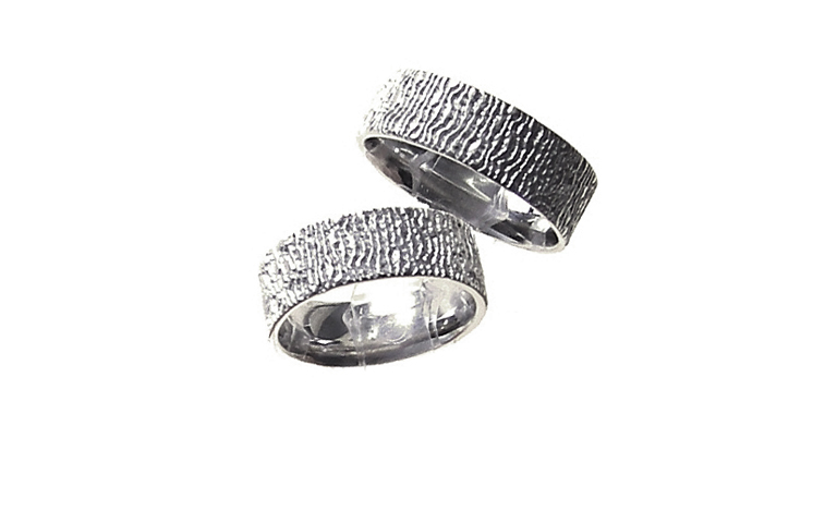 45130+45131-wedding rings, white gold 750