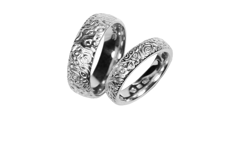45189+45190-wedding rings, whitegold 750