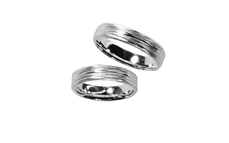 45194+45195-wedding rings, white gold 750