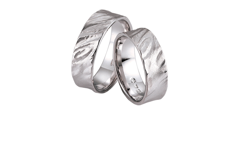 45196+45197-wedding rings, whitegold 750