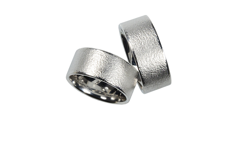 45200+45201-wedding rings, white gold 750