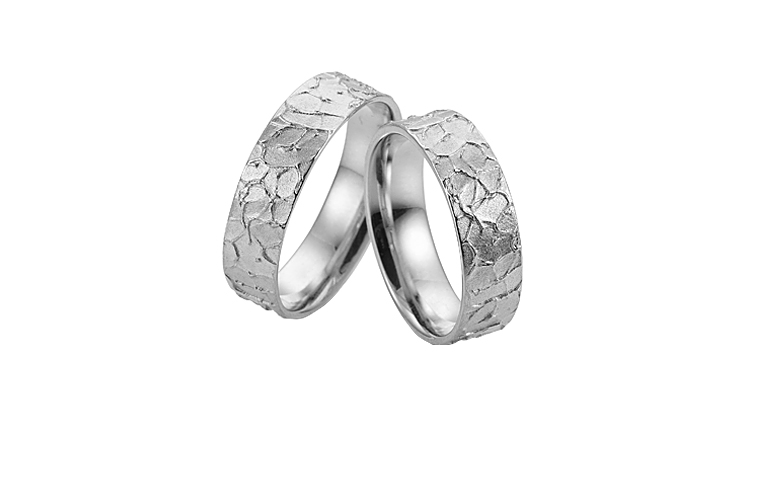 45229+45230-wedding rings, white gold 750