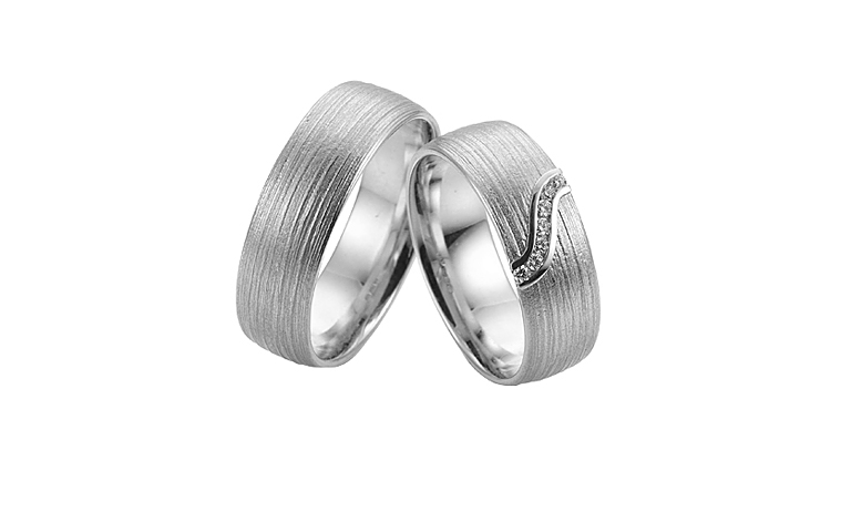 45248+45249-wedding rings, white gold 750 with brillants