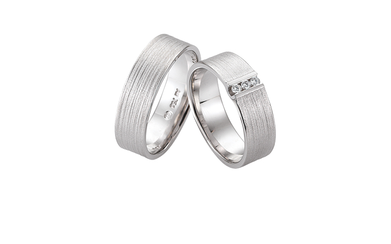 45251+45252-wedding rings, white gold 750 with brillants